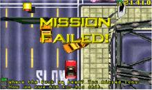 Mission Failed GTA 1