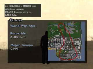 Mapa del recorrido de World War Ace