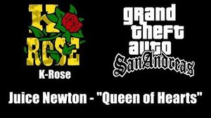 "GTA San Andreas - K-Rose Juice Newton - ""Queen of Hearts"""