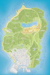 Mapa de fragmentos GTA V