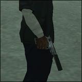 Pistola con silenciador