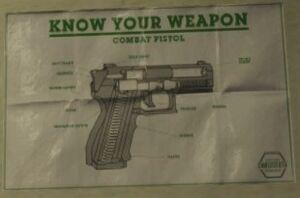 Pistola de combate Anatomía
