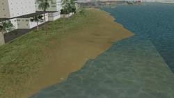 Playa del centro de la ciudad