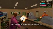 Extorsión protegiendo la tienda