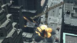 Grúa explotando Bang Bang
