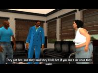 Mary-Jo hablando con Victor y Lance