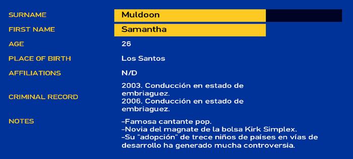 Samantha muldoon