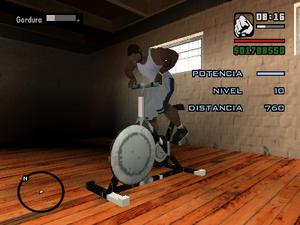 Bici del gimnasio perdiendo peso