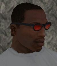 Gafas tinta rojo