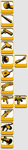 Armas de gta lll ordenadas por tipo 2
