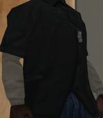 Camisa gris en probador