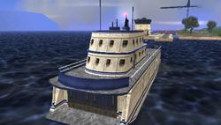 La parte trasera del ferry