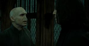 Snape y Voldemort última discusión