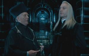 Fudge y Lucius en el Ministerio