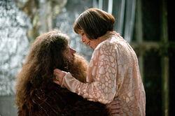 P4 - Baile de Navidad - Madame Maxime - Rubeus Hagrid