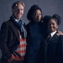 Ron, Hermione y Rose Weasley