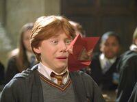 Ron recibe un vociferador