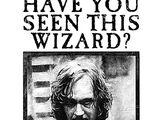 Cartel de se busca a Sirius Black