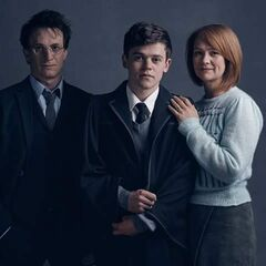Harry, Ginny y Albus Potter