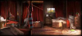 Dormitorio de los chicos de Gryffindor 1