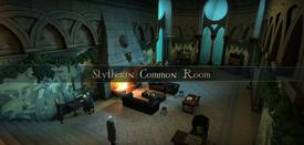 Sala común de Slytherin en Hogwarts Mystery