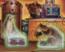 Ratón a caja de rapé