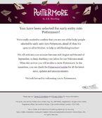 Pottermore Acceso Temprano