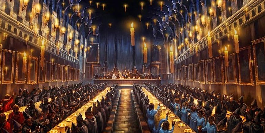 Resultado de imagen para hogwarts salon comedor
