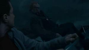 Moody y Harry durante la batalla de los siete Potters
