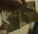 Carta de Regulus Black a Lord Voldemort