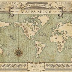 thumb|Mapamundi de Newt utilizado en su cobertizo.