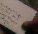 Carta de Albus Dumbledore a Petunia Dursley