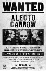 Cartel de se busca de Alecto Carrow