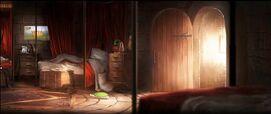 Dormitorio de los chicos de Gryffindor