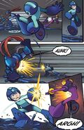 Oil Slider usado por Mega Man en Comic