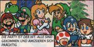 Mega Man Mario Cómic Christmas