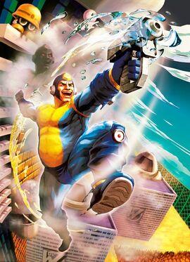 Mega man street fighter x tekken art