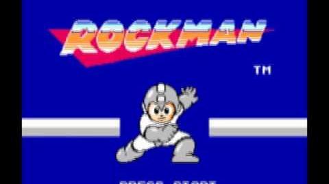 Rockman (1987) - Pantalla de Título