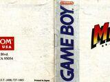 Manual de Mega Man: Dr. Wily's Revenge
