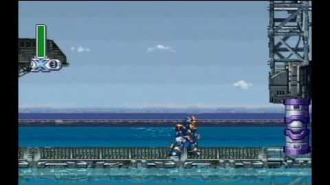 Mega Man X4 - X - Marine Base stage - Jet Stingray