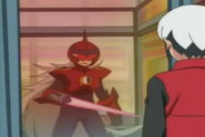 Dark ProtoMan Captured In a Dimensional Area