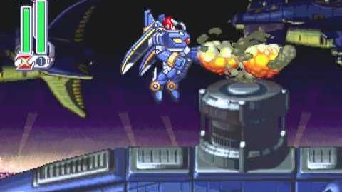 Megaman X4 Zero's Storm Owl Gamplay
