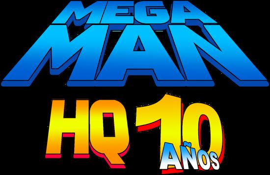 MegaManHQ10AÑOSLogo2017