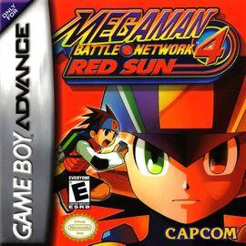 MegaMan Battle Network 4 Red Sun Coverart