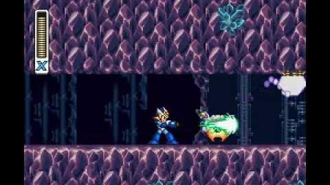Mega Man X2 - Crystal Snail Stage Energen Crystal Mine