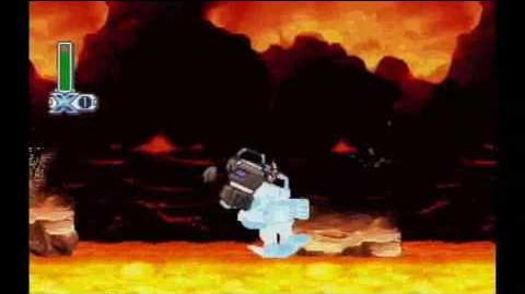 Mega Man X4 - X - Volcano stage - Magma Dragoon