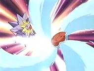 EP105 Squirtle utilizando hidrobomba contra Starmie