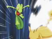 EP283 Pikachu de Ash usando ataque rápido