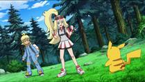 EP837 Corelia junto a Pikachu