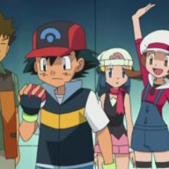Brock, Ash, Dawn/Maya, <a href=